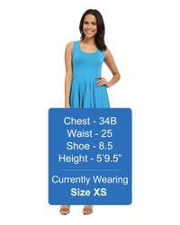 Mod-o-doc - Natural Cotton Modal Spandex Jersey Hanky Hem Tank Dress - Lyst