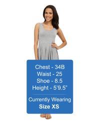 Mod-o-doc - Gray Cotton Modal Spandex Jersey Hanky Hem Tank Dress - Lyst