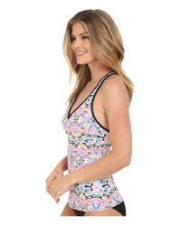 Next By Athena - Black Wellness Retreat Step Up Racerback Remsoft Cup Tankini - Lyst