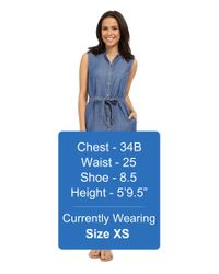 Tommy Bahama - Blue Chambray All Day Sleevless Dress - Lyst
