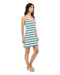 MICHAEL Michael Kors - Black Nauset Stripe Tank Top Cover-up - Lyst