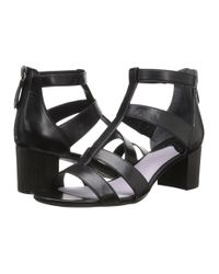 Johnston & Murphy - Black Kallie Back Zip Sandal - Lyst