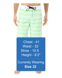 "Hurley - Green Sunset 22"" Boardshorts for Men - Lyst"