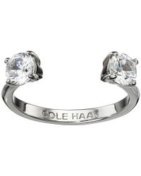 Cole Haan   Metallic Cz Open Stone Ring   Lyst