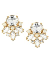 kate spade new york - White Chantilly Gems Studs Earrings - Lyst