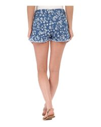Volcom - Blue High & Waisted Shorts - Lyst