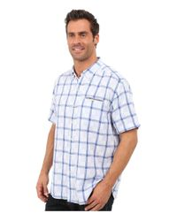 Tommy Bahama   Blue Plaid Perfect Short Sleeve for Men   Lyst