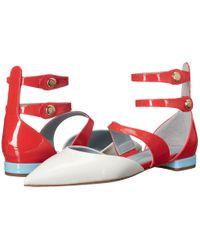 Chiara Ferragni - Red Jackie Patent Pointy Toe Flat - Lyst