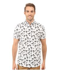 Kenneth Cole | Multicolor Men's Palm-print Short-sleeve Shirt for Men | Lyst