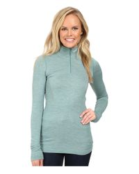 The North Face | Blue Long Sleeve Go Seamless Wool 1/4 Zip | Lyst