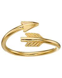 ALEX AND ANI | Metallic Love Struck Arrow Wrap Ring | Lyst