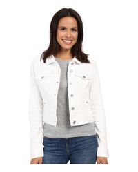 Liverpool Jeans Company - White Cropped Denim Jacket - Lyst