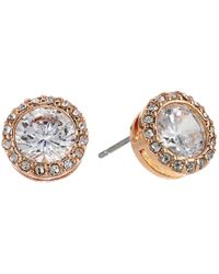 Lauren by Ralph Lauren | Metallic Halo Crystal Stud Earrings | Lyst