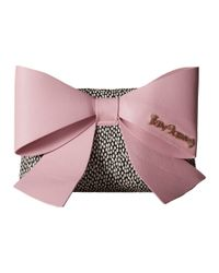 Betsey Johnson - Black Big Bow Chic Large Bow Clutch - Lyst
