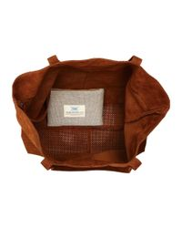 TOMS - Brown Suede Tote - Lyst