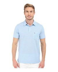 Vineyard Vines - Blue Performance Pique Stripe Polo for Men - Lyst