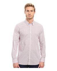 Ted Baker | Red Mocojum Long Sleeve Geo Tile Print Shirt for Men | Lyst