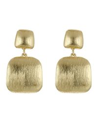 Cole Haan - Metallic Geometric Post Drop Earrings - Lyst