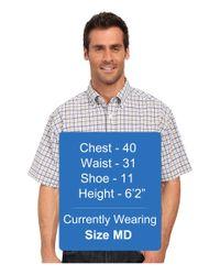 Cinch - White Athletic Plaid Short Sleeve for Men - Lyst