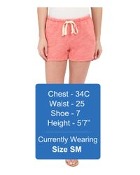 Project Social T - Red Bonfire Shorts - Lyst