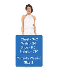 Calvin Klein - White Halter Neck Gown Cd6b1u3n - Lyst