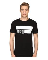McQ Black Short Sleeve Crew Tee for men