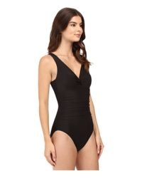 Miraclesuit - Black Solid Palisades One-piece - Lyst
