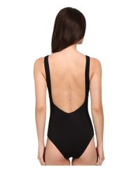 Jets by Jessika Allen - Black Luxe High Neck One-piece Swimsuit - Lyst