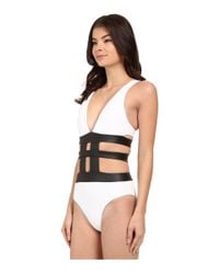 Jets by Jessika Allen - Black Apparition Plunge Banded One-piece Swimsuit - Lyst