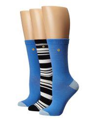 Kate Spade   Blue 3-pack Trouser Socks   Lyst