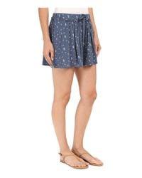Splendid - Blue Primrose Ditsy Shorts - Lyst