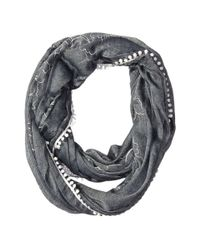 Calvin Klein - Black Embroidered Infinity Scarf - Lyst