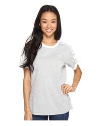 Adidas Originals | Gray 3-stripes Tee | Lyst