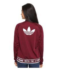 Adidas Originals | Red Supergirl Track Jacket | Lyst