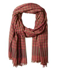 Scotch & Soda - Red Gentleman's Scarf In Lightweight Cotton Quality With Herringbone Patterns for Men - Lyst