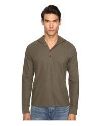 Vince | Green Long Sleeve Hooded Henley for Men | Lyst