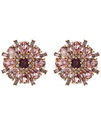 kate spade new york | Multicolor Trellis Blooms Statement Studs Earrings | Lyst
