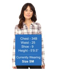 PAIGE - Gray Mya Plaid Shirt - Lyst