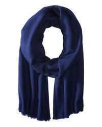 Love Quotes | Blue Travel Weight Cashmere Wrap Scarf | Lyst