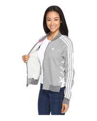 Adidas Originals - Gray Drawcord Track Top - Lyst