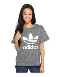Adidas Originals | Gray Drawcord Tee | Lyst