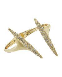 Alexis Bittar   Metallic Crystal Encrusted Modernist Spear Hinge Bracelet   Lyst