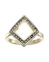 Cole Haan | Metallic Open Diamond Crystal Ring | Lyst