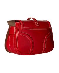 Dooney & Bourke - Red Florentine Small Saddle Bag - Lyst