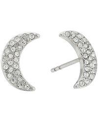 Fossil - Metallic Glitz Moon Earrings Jackets - Lyst