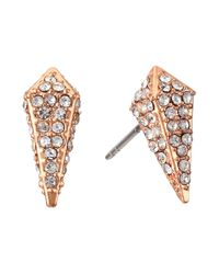 Rebecca Minkoff | Metallic Pave Spike Stud Earrings | Lyst