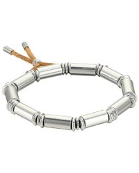 French Connection | Metallic Tube Stretch Bracelet | Lyst