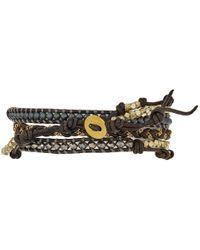 Chan Luu - Brown 32' Grey Mix Wrap Bracelet - Lyst
