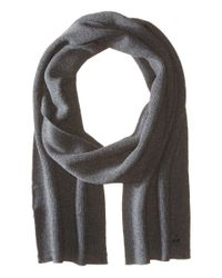 Z Zegna | Gray Pearl Stitch Hydrorepellent Merino Wool Scarf for Men | Lyst