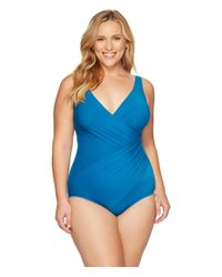 Miraclesuit | Blue Plus Size Solids Oceanus One-piece | Lyst